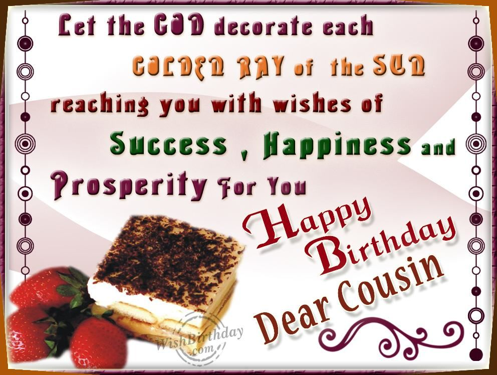 HAPPY BLESSED BIRTHDAY BIRTHDAY WISHES – Birthday Greetings for Cousins