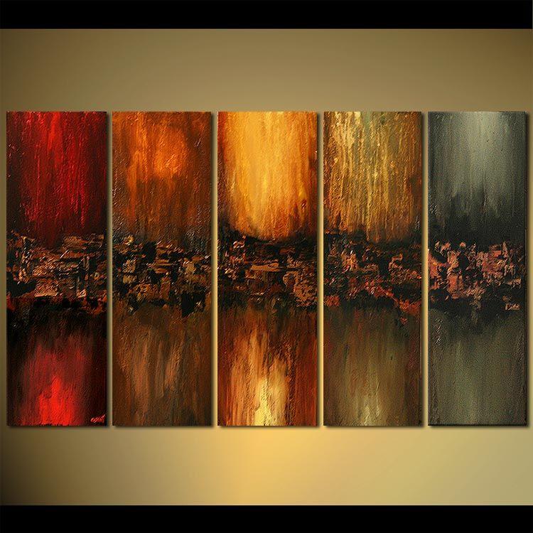 multi panel modern wall decor vertical colorful | Art | Pinterest ...