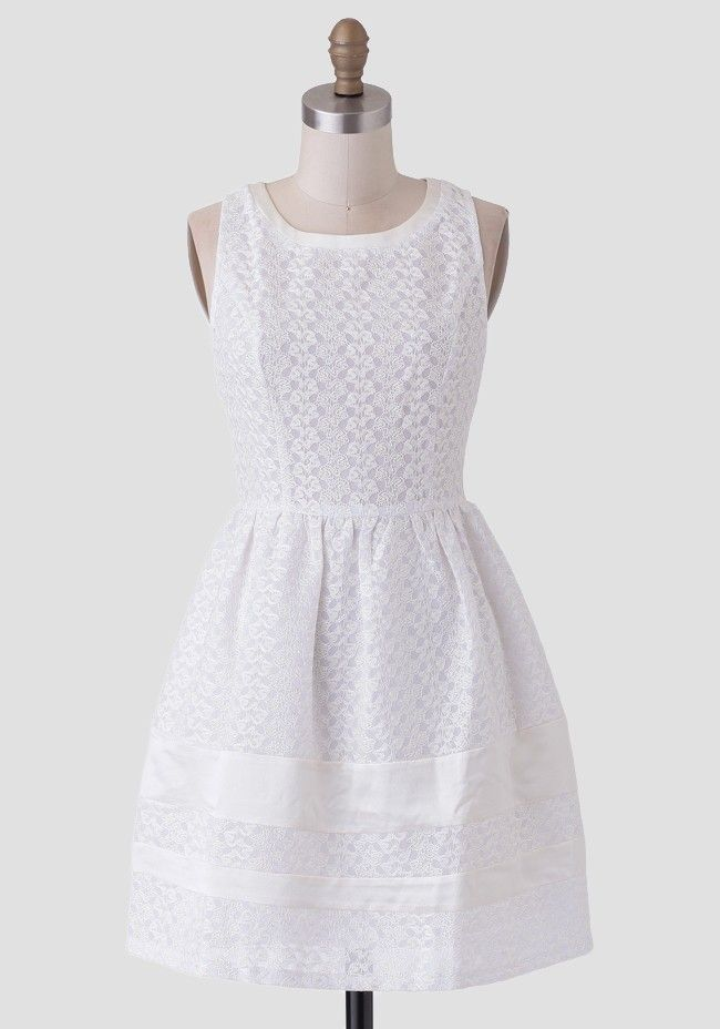 Perfect For A Semi Formal Occasion This Lovely White Dress Is
