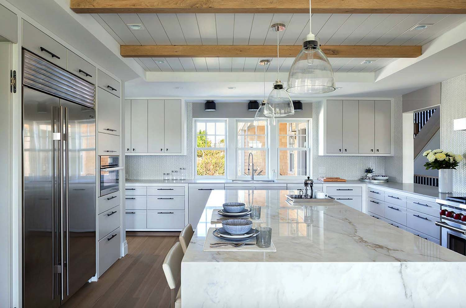 style Nantucket beach home infused with nautical touches