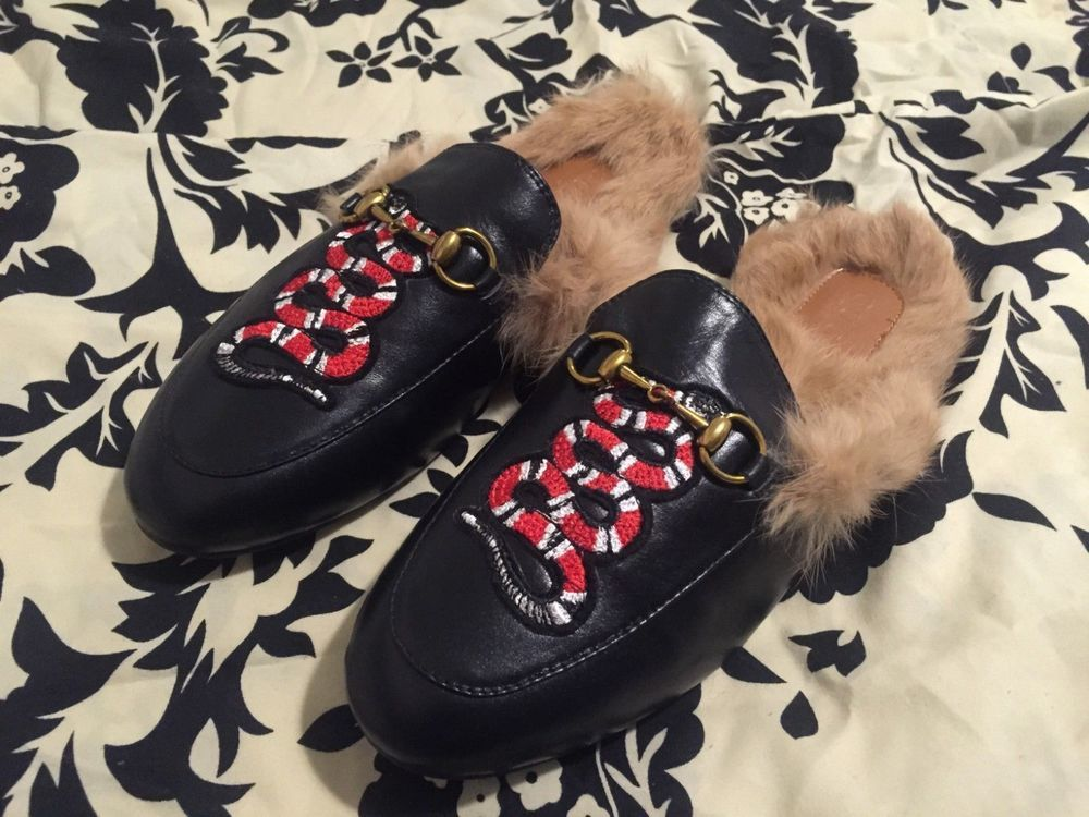 5c209f4defd Black womens Gucci princetown loafer flats slippers slip-on size 38 US 8   fashion  clothing  shoes  accessories  womensshoes  flats (ebay link)