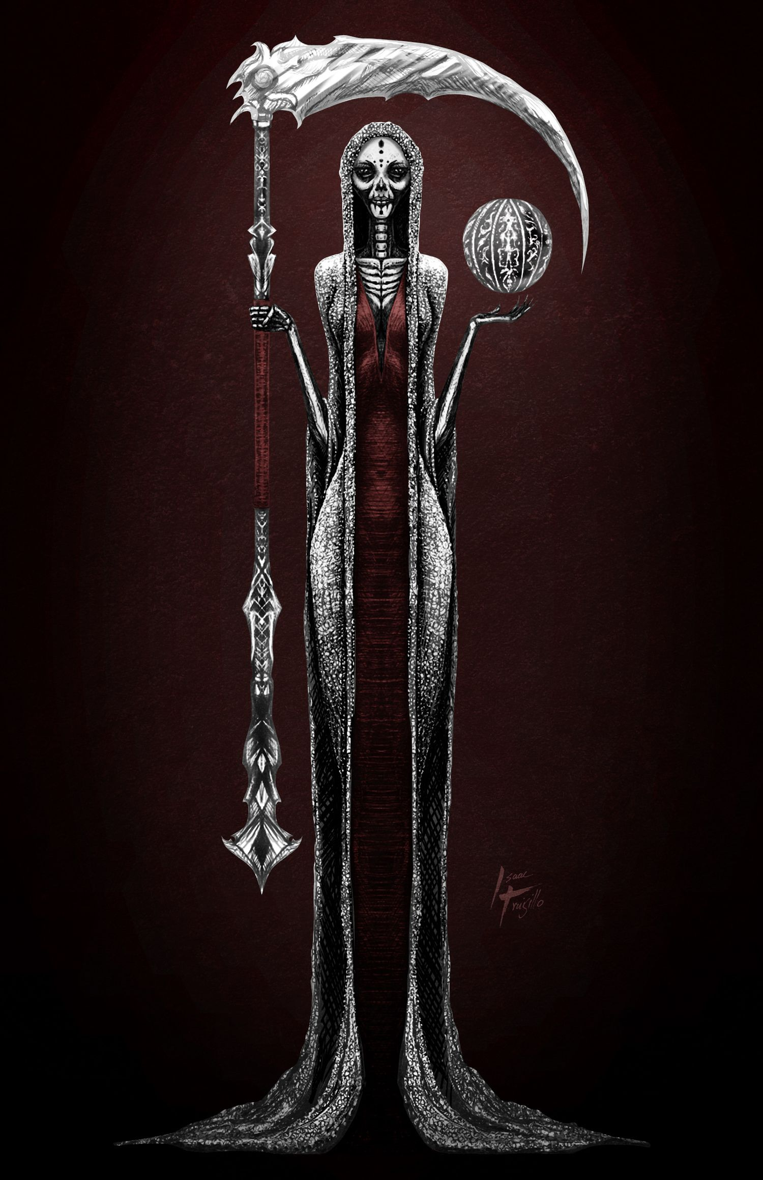Santa Muerte By Isaac Trujillo Different And Very Elegantly Done