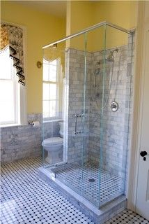 Home Depot M S International Marble Subway Tiles Installed