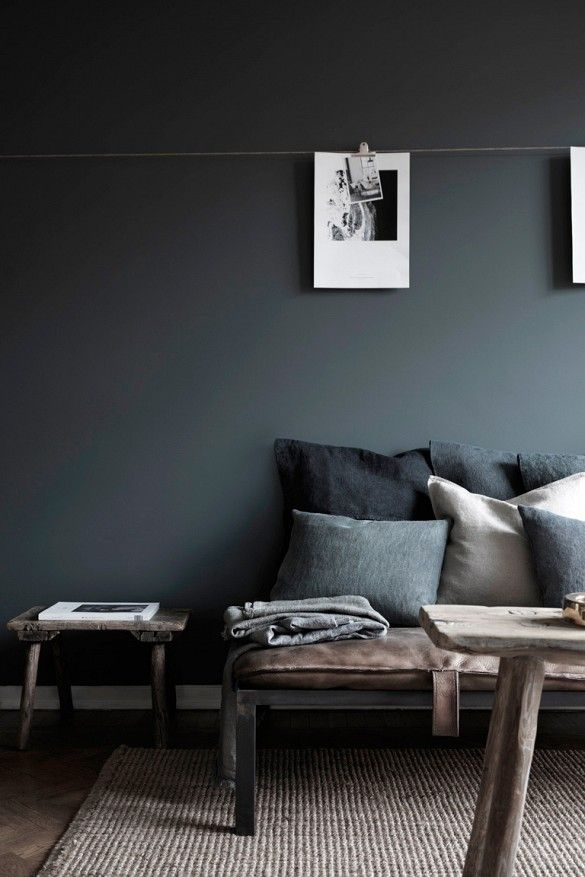 This Swedish Apartment Is Styled To Perfection By Stylist Hans Blomquist.  Moody Dark Walls, Creatively Displayed Art Prints And Decor Details Weu0027re  Itching ...