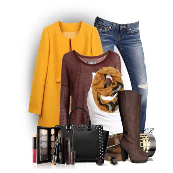 Mustard Coat, created by colierollers on Polyvore