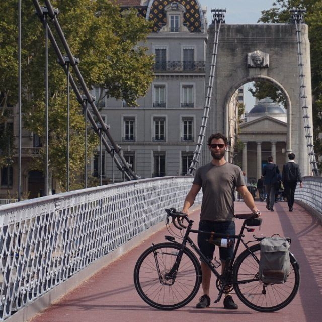 Working pretty hard on my posture. Look out for the man boobs....or pecks....or whatever they're called. #lyon #france #bicyclewinerack #europebybike