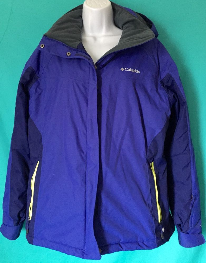 Columbia Thermal Comfort Omni-heat Omni Tech Blue Women's Jacket Coat XL #Columbia #BasicCoat