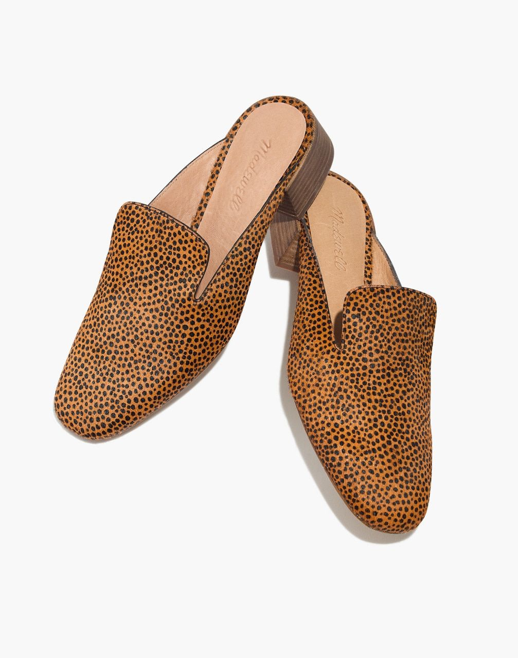 9014567cff4 Madewell The Willa Loafer Mule in Spotted Calf Hair