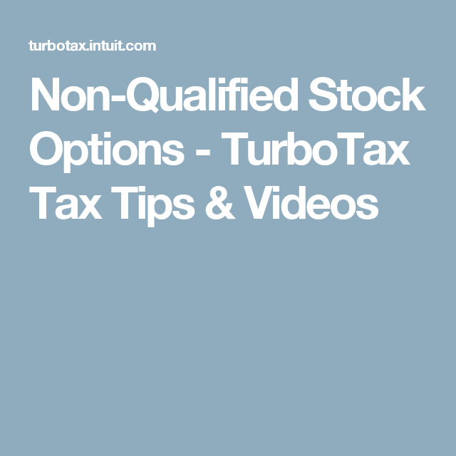 How to Report Stock Options on Your Tax Return - TurboTax Tax Tips & Videos