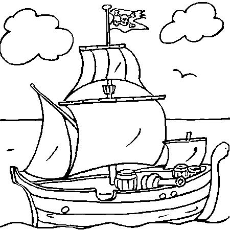 Dessin bateau pirate a colorier pirate pinterest - Dessin pirates ...