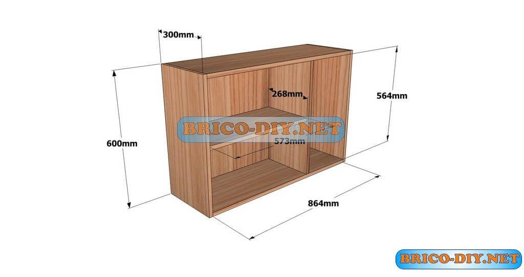 Planos Detallados Para Hacer Un Mueble Alto De Cocina De Madera