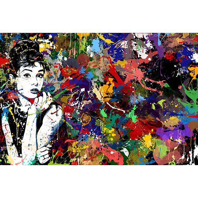 Maxwell dickson audrey hepburn pop art modern canvas print modern prints and posters by custom photo factory
