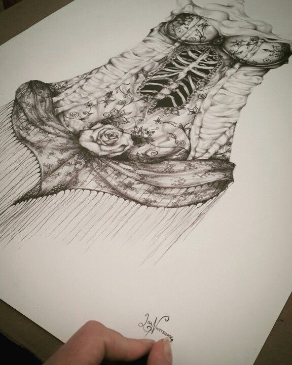 Corset drawing