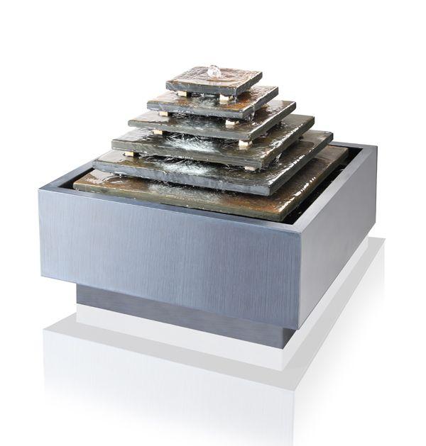 Azteekse Pyramide, Leien Waterornament met LED-verlichting | Tuin ...