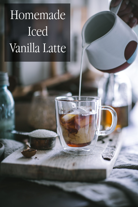 Homemade iced vanilla latte recipe vanilla latte