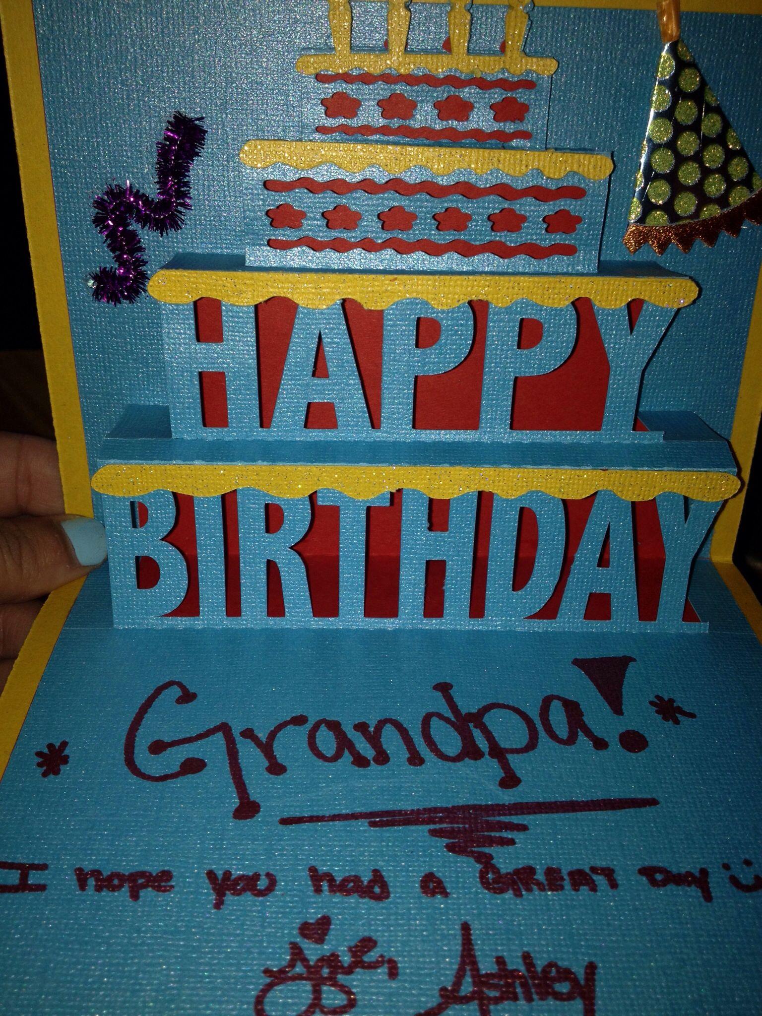 Happy birthday card my crafts pinterest happy birthday cards