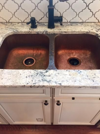 SINKOLOGY Undermount Handcrafted Solid Copper 32 in. Double Bowl Kitchen Sink in Antique Copper SK205-32AC at The Home Depot - Mobile