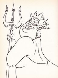 Walt Disney Coloring Pages Ursula Walt Disney Characters Disney Coloring Pages Mermaid Coloring Pages Disney Drawings