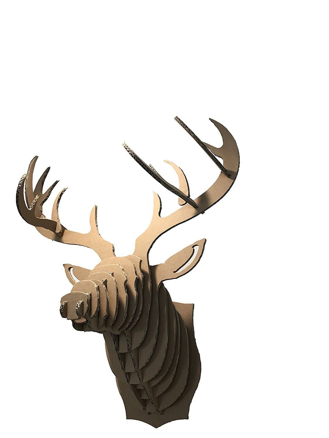 Paper Maker DIY Cardboard Deer Head Wall Mount Wall Hanging