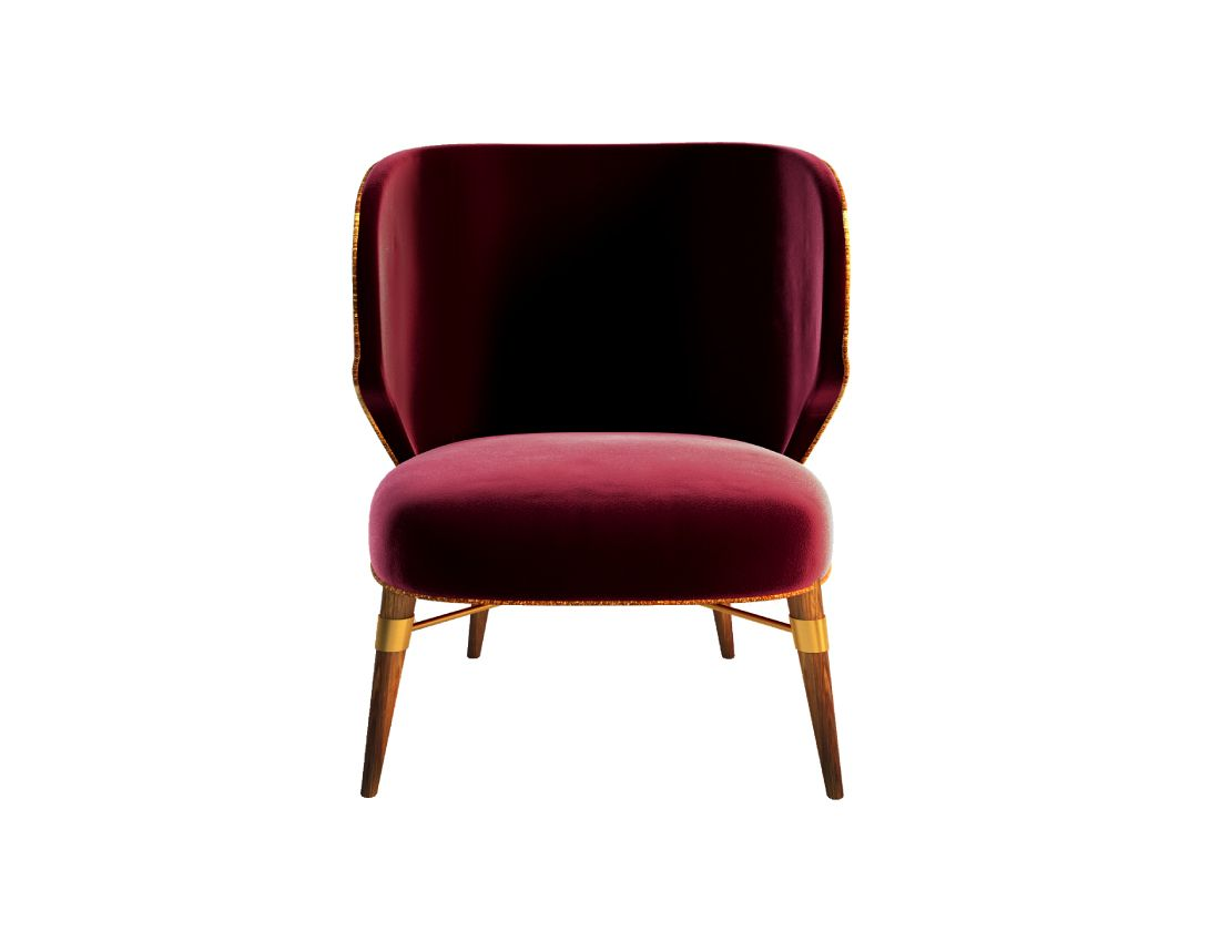 Louis Armchair   With #burgundy #velvet And A Contrasting #golden Cord, A  #classic #design Radiates From This Chairu0027s Modern Lines. The Louis Armchair  Rests ...