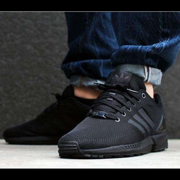 ISO Adidas Zx Flux in black Looking for these in a women s size 7 or 7.5 in all  black Shoes 6389882d7