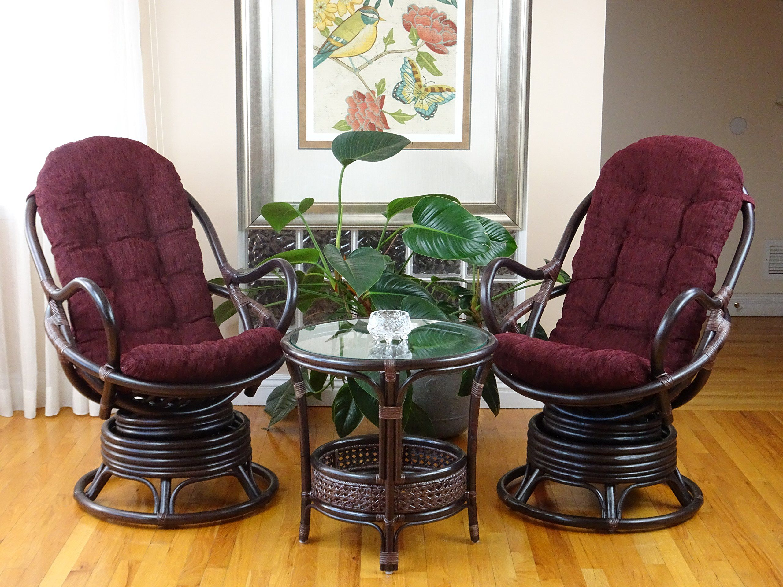 wicker lounge chair set of 2