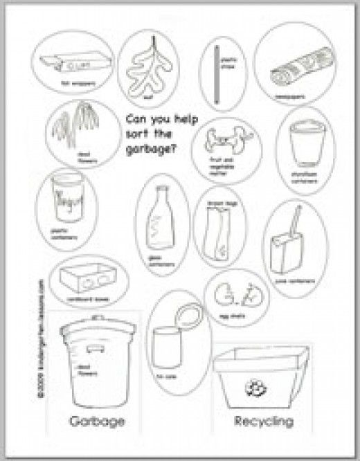 Recycling Worksheets for Kids | Coloring book online and Worksheets