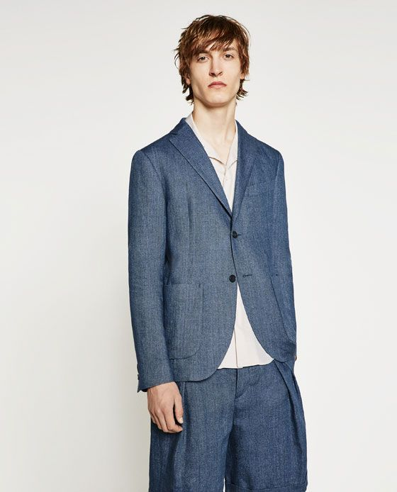 330f4d31d8 ZARA - SALE - INDIGO BLUE BLAZER | July Shoot Concepts | Blazer ...