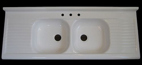 Reproduction 1940s 1950s Farmhouse Drainboard Sink Now Available   Big News