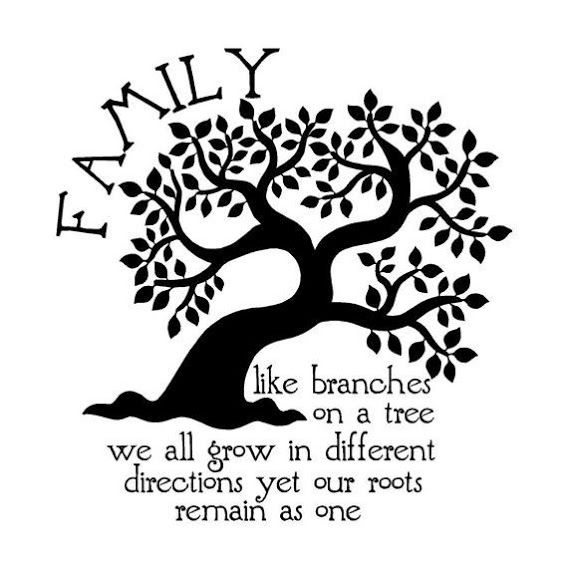 """Family, like branches on a tree, we all grow in different"