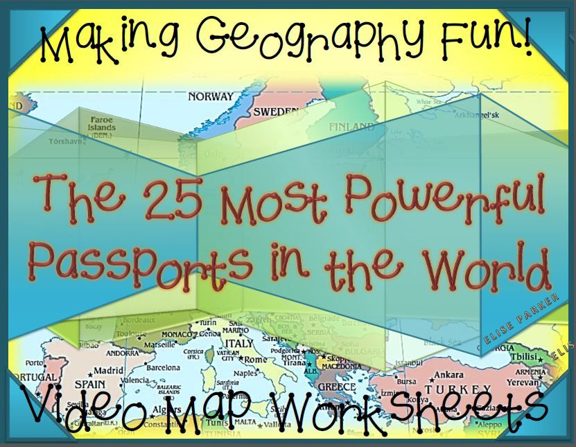 Printable Worksheets social studies geography worksheets : Fun Geography Activities: Geography Video Worksheets: Passports ...