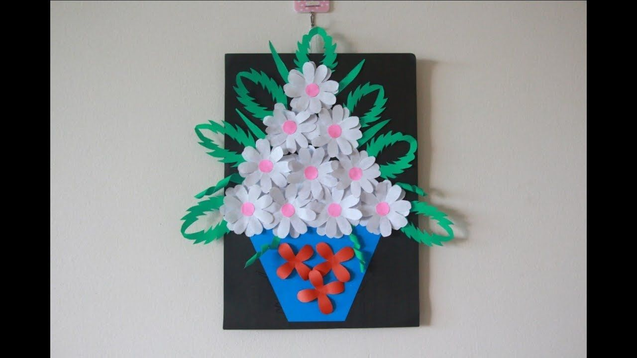 Simple Home Decor | Wall Decoration Hanging Flower | Beautiful Paper Craft  Ideas | Diys