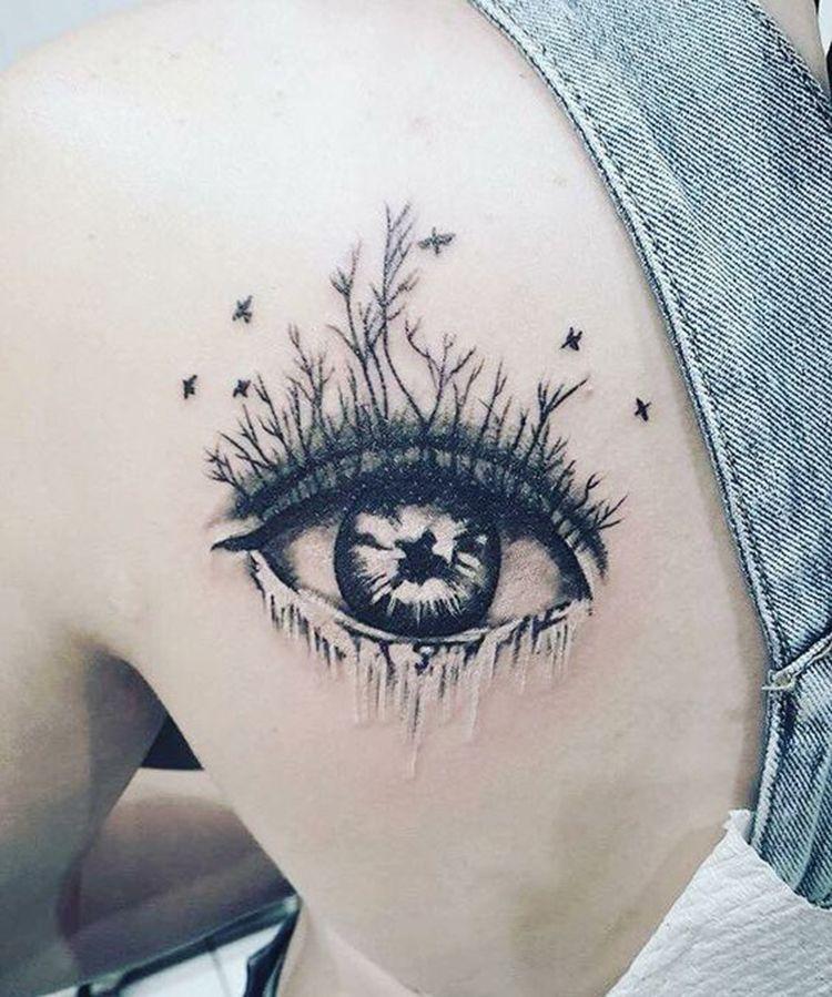 Loneliness Tattoos Design Eye Tattoos TopNailsArt