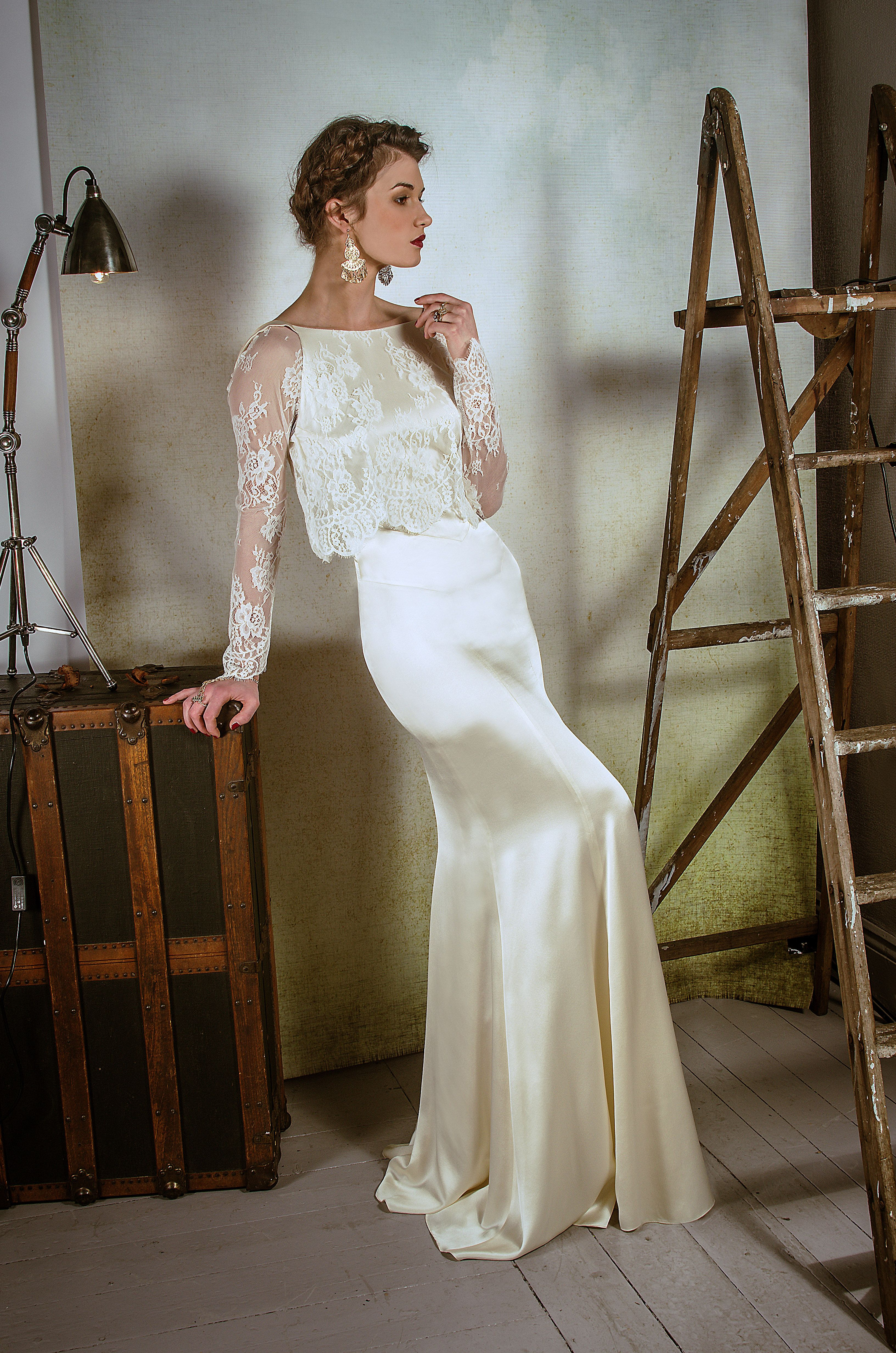 Ss14 belle bunty vintage inspired modern wedding dresses for Modern vintage lace wedding dress