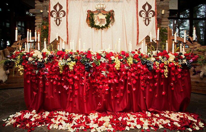 Президиум wedding ideas Красная свадьба Свадьба в