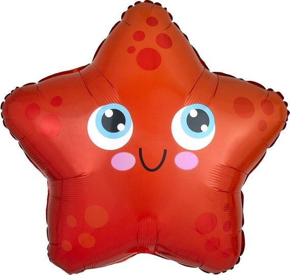This adorable bright Starfish is ready for your next Under the Sea Celebration! Collect the whole gang for a fun ocean decorated party! Also available on my etsy the matching: Octopus, Puffer Fish, Seahorse, and Crab!Ships FlatOne Starfish Balloon per Order17