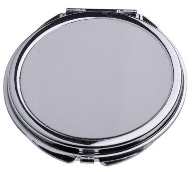 10 Pcs Sublimation Round Pocket Mirror Heat Transfer Engraved Pocket Mirror Skin Care Tools