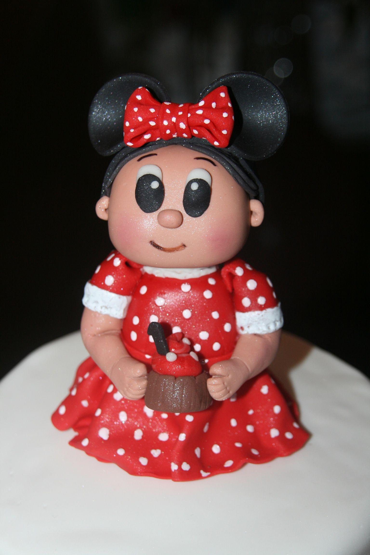 Little minnie girl topper - Cocoabai Cakes
