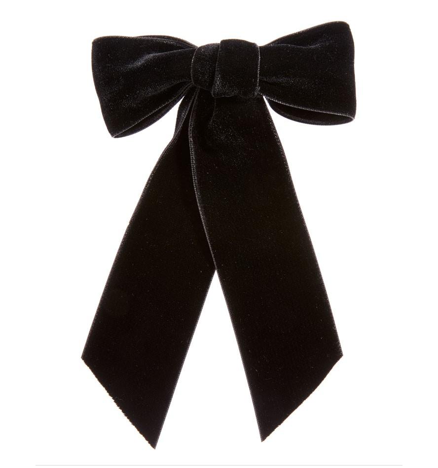 Wide Velvet Bow Barrette Black Hair Bows Velvet Bow Bow Hair Clips