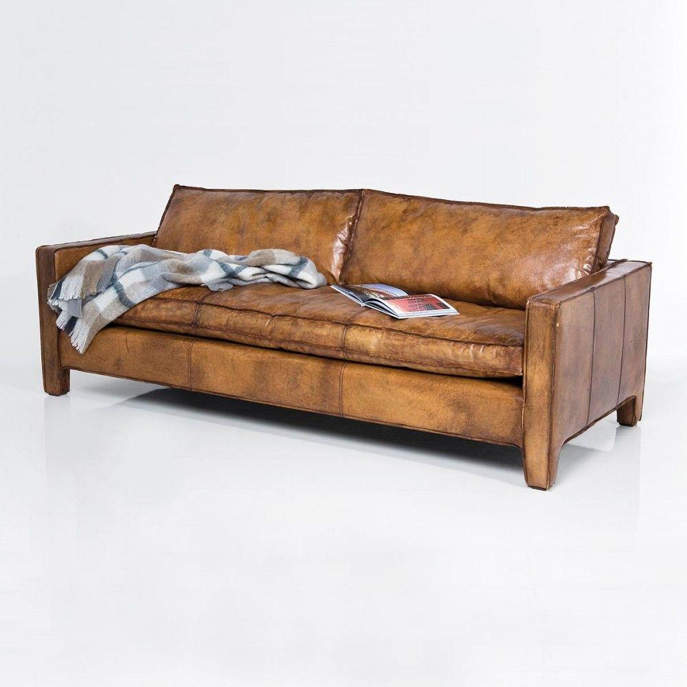 Sofa piel camel sit down sof sillones y sofas vintage - Sofa piel vintage ...