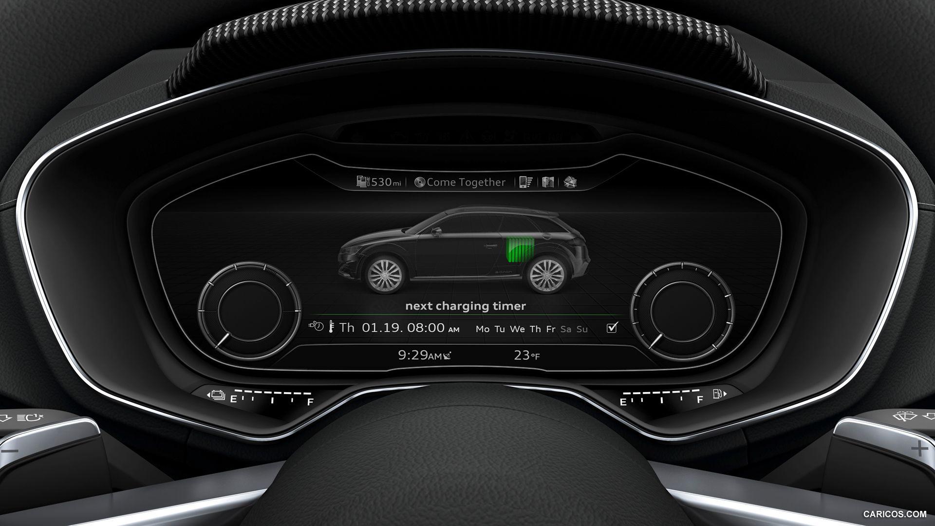 Audi Allroad Shooting Brake Concept 2014 Instrument Cluster Hd