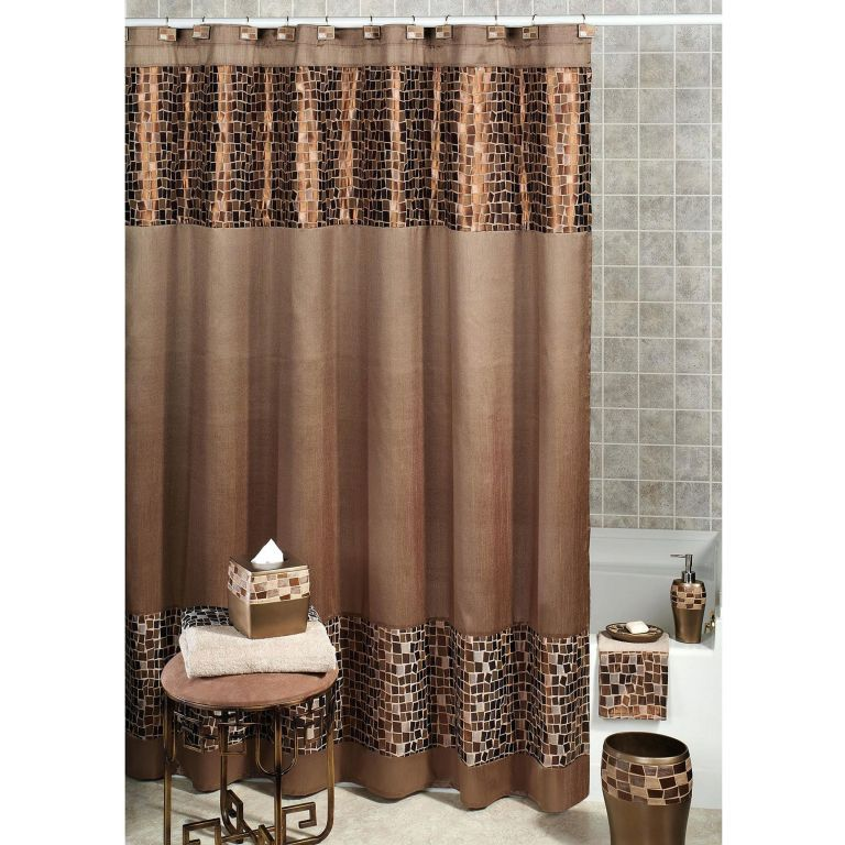 Bathroom Shower With Curtain 020 Elegant Shower Curtains Brown Shower Curtain Fancy Shower Curtains