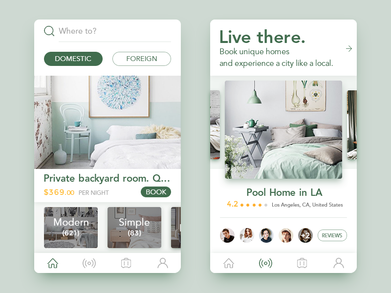 Get Accommodation App With Images Mobile App Design