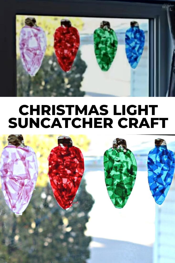 Christmas Craft Idea for Kids: Make Giant Christmas Light Suncatchers! -   18 christmas crafts for kids preschool ideas