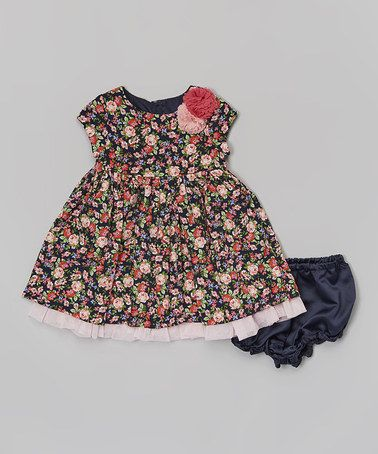 Look what I found on #zulily! Pink Floral Dress & Diaper Cover - Infant by Laura Ashley London #zulilyfinds