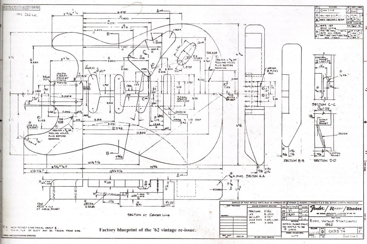 Factory Blueprint Of The 62 Reissue