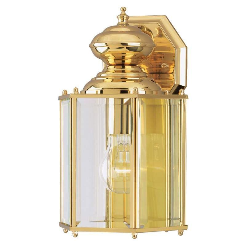 Westinghouse 6685300 12 tall 1 light outdoor lantern wall sconce westinghouse 6685300 12 tall 1 light outdoor lantern wall sconce polished brass outdoor lighting wall mozeypictures Image collections