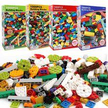1000pcs Diy City Creative Building Blocks Bricks Educational Toys Compatible With Legoingly Bricks hot Blocks