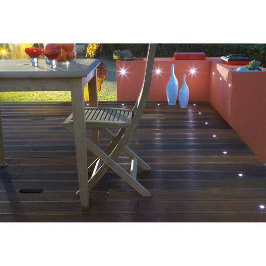 Lot De 10 Spots A Encastrer Exterieur Cosa Acier Inoxydable Terrasse Bois Eclairage Exterieur Luminaires Terrasse