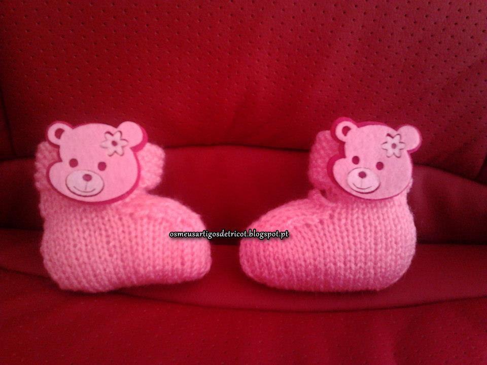 sapatinhos de menina com ursinhos